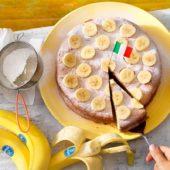 Italiaanse torta paradiso met Chiquita banaan
