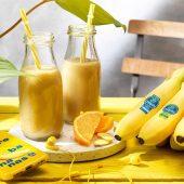 Smoothie van Chiquita-banaan, sinaasappel en gember