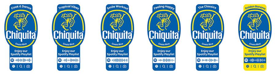 5 Playlists Chiquita Spotify Banana Stickers