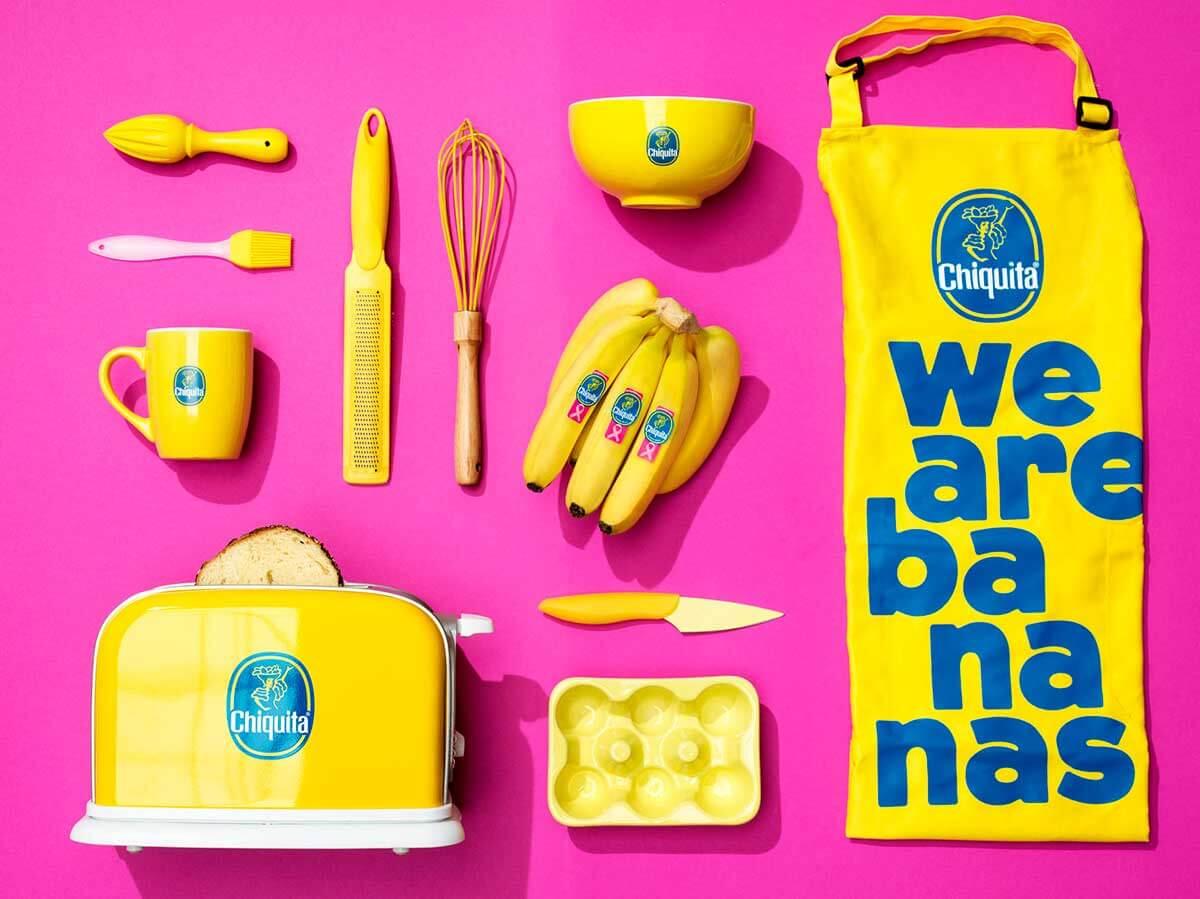 Chiquita Roze sticker kookmodel