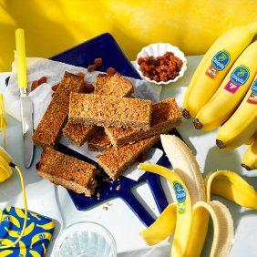 Wat eten voor sporten: Eiwitrepen van Chiquita bananenbrood