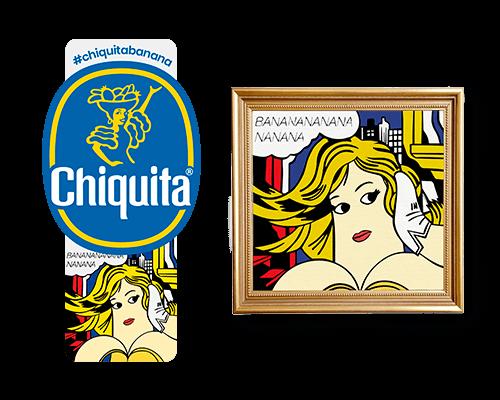 Chiquita-Artist-Sticker_Roy_lichtenstein