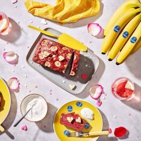 Chiquita velvet-bananenbrood voor Valentijnsdag