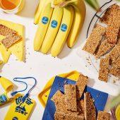 Energierepen met bananen en amandelen vóór het sporten
