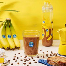 Work-out eiwitshake met banaan en mokka van Chiquita